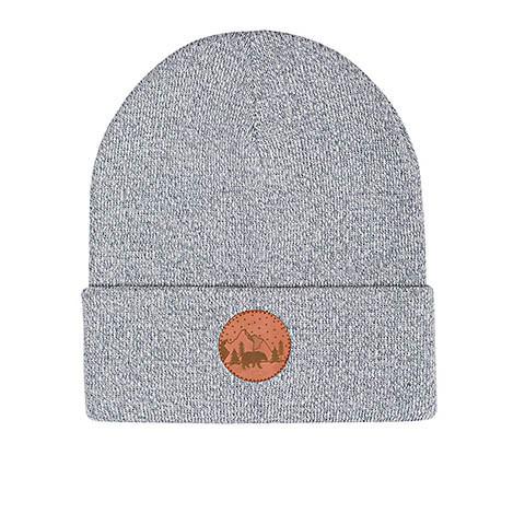 Vegane Mütze | KABAK Cotton Beanie Grey Melange