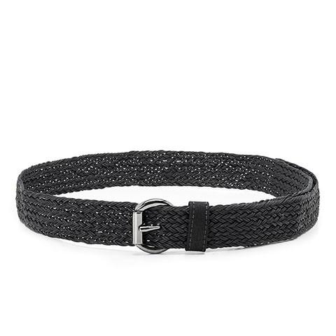 Veganer Gürtel   AHIMSA Braided Belt Black