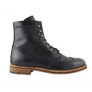 Veganer Schnürstiefel | FAIR Brogue Boot Black