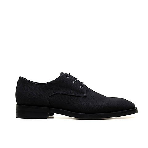 Veganer Derby | AHIMSA Edward Canvas Black