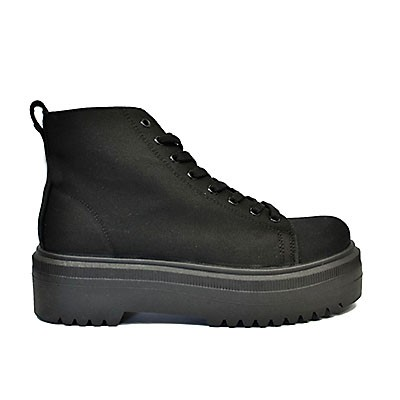 Veganer Sneaker | ALTERCORE Izra Canvas Black
