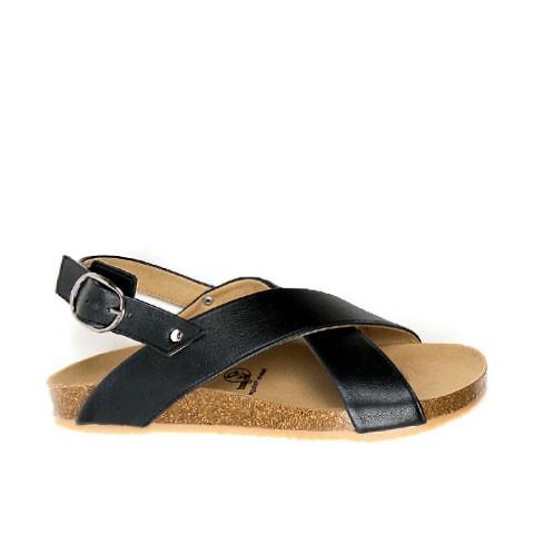Vegane Sandale | WILL'S VEGAN STORE Huarache Footbed Sandal Black