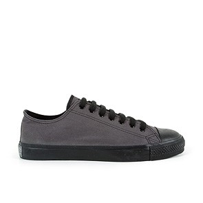 Veganer Sneaker | ETHLETIC Fair Trainer Black Cap Lo Cut Pewter Grey