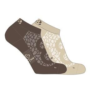 Vegane Socken   LOWA Eightsox Lo Nature Beige/Dark Brown
