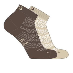 Vegane Socken - Lowa Eightsox Mid Nature Beige/Dark Brown